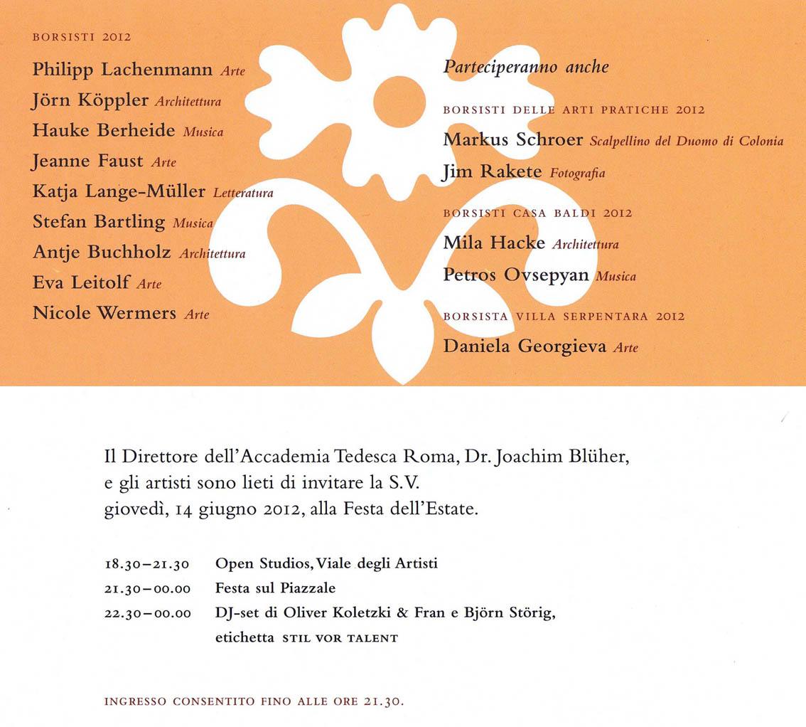 köppler türk architekten, Einladung
